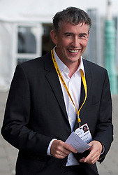 """© London News Pictures. 25/09/2012. Brighton, UK.  Actor Steve Coogan arriving at the Liberal Democrat Conference in Brighton on September 25, 2012 to meet Deputy Prime Minister Nick Clegg to discuss the """"Hacked Off"""" campaign. Photo credit : Ben Cawthra/LNP."""