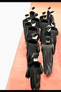 Nederland, Nijmegen, 1-9-2003..Tijdens de opening van het academisch jaar betreden hoogleraren, professoren, de zaal...Associatie wetenschap, toga, traditie, universitair onderwijs, universiteit..Foto: Flip Franssen
