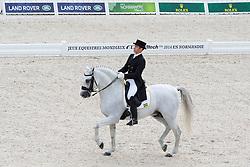 Joao Victor Oliva, (BRA), Signo Dos Pinhais - Grand Prix Team Competition Dressage - Alltech FEI World Equestrian Games™ 2014 - Normandy, France.<br /> © Hippo Foto Team - Leanjo de Koster<br /> 25/06/14