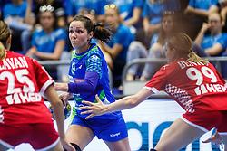 Nina Jericek of Slovenia during qualifying match for world championship between Slovenia and Croatia in Dvorana Golovec , Celje, Slovenia. Photo by Grega Valancic / Sportida