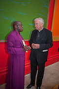 THE ARCHBISHOP OF YORK; DR. JOHN SENTAMU; THE ARCHBISHOP OF WESTMINSTER; VINCENT NICHOLS, Royal Academy of Arts Annual dinner. Piccadilly. London. 29 May 2012.