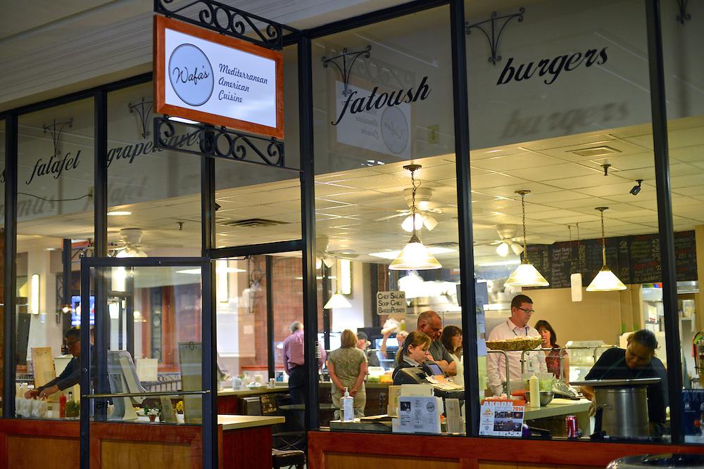 Guests ordering at Wafa's Mediterranean Restaurant.