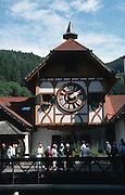 Deutschland, Germany,Baden-Wuerttemberg.Schwarzwald.Triberg, gröflte Kuckucksuhr der Welt.Triberg, biggest cuckoo clock (black forest clock) in world...