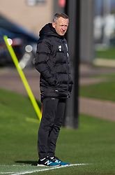 LIVERPOOL, ENGLAND - Monday, February 24, 2020: Liverpool's head coach Niel Critchley during the Premier League Cup Group F match between Liverpool FC Under-23's and AFC Sunderland Under-23's at the Liverpool Academy. (Pic by David Rawcliffe/Propaganda)