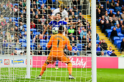 Johann Gudmundsson of Burnley scores his sides first goal of the game - Mandatory by-line: Ryan Hiscott/JMP - 30/09/2018 -  FOOTBALL - Cardiff City Stadium - Cardiff, Wales -  Cardiff City v Burnley - Premier League