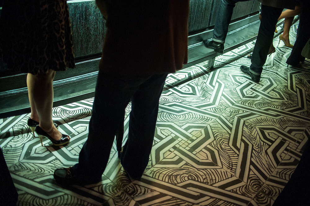 Photo by Matt Roth<br /> Assignment ID: 30142125A<br /> <br /> Opening party guests stand on the marble tile in the bar at Nopa, restauranteur Ashok Bajaj's newest D.C. restaurant.