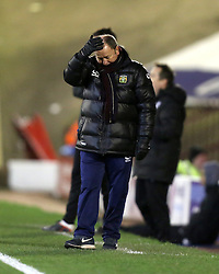 Yeovil Town Manager, Gary Johnson shows his frustration - Photo mandatory by-line: Matt Bunn/JMP - Tel: Mobile: 07966 386802 14/12/2013 - SPORT - Football - Barnsley - Oakwell - Barnsley v Yeovil Town - Sky Bet Championship