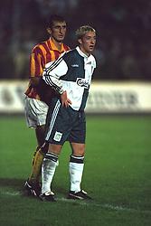 VLADIKAVKAZ, RUSSIA - Tuesday, September 12, 1995: Liverpool's Robbie Fowler in action against FC Alania Spartak Vladikavkaz during the UEFA Cup 1st Round 1st Leg match at Republican Spartak Stadium. (Photo by David Rawcliffe/Propaganda)