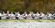 Putney - Chiswick, London,  Great Britain.<br /> <br /> 2016 University Boat Race, Oxford vs Cambridge, Putney. Putney  to Mortlake, Championship Course. River Thames.<br /> <br /> Sunday  27/03/2016 <br /> <br /> [Mandatory Credit; Peter SPURRIER/Intersport-images]    CUBC. Bow: Felix Newman, 2: Ali Abbas, 3: Charles Fisher, 4: Clemens Auersperg, 5: Luke Juckett, 6: Henry Hoffstot, 7: Ben Ruble, Stroke: Lance Tredell, Cox: Ian Middleton.<br /> Oxford, Crew, Bow: George McKirdy, 2: James White, 3: Morgan Gerlak,  4: Joshua Bugajski, 5: Leo Carrington, 6: Jørgen Tveit, 7: Jamie Cook, Stroke: Nik Hazel and Cox: Sam Collier.