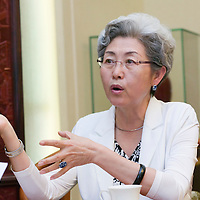 BEIJING, 8/17/2011 : China's vice -foreign minster, Mme Fuying, during an interview in the Foreign Ministry.