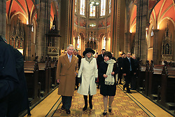 15.03.2016, Osijek, CRO, der Britische Kronprinz Charles und seine Frau Camilla besuchen Kroatien, im Bild Their Royal Highness the Prince of Wales and Duchess of Cornwall during a visit to Osijek visited the cathedral of, St. Peter and Paul, where they met with conservationists and craftsmen who restored cathedral of after the war. EXPA Pictures © 2016, PhotoCredit: EXPA/ Pixsell/ Davor Javorovic/POOL<br /> <br /> *****ATTENTION - for AUT, SLO, SUI, SWE, ITA, FRA only*****