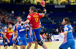Julen Aguinagalde of Spain during handball match between Croatia and Spain for 3rd place game at 10th EHF European Handball Championship Serbia 2012, on January 29, 2012 in Beogradska Arena, Belgrade, Serbia.  (Photo By Vid Ponikvar / Sportida.com)