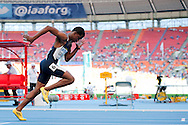 Angelo Garland competes in men's 400 meters qualification during the 14th IAAF World Athletics Championships at the Luzhniki stadium in Moscow on August 11, 2013.<br /> <br /> Russian Federation, Moscow, August 11, 2013<br /> <br /> Picture also available in RAW (NEF) or TIFF format on special request.<br /> <br /> For editorial use only. Any commercial or promotional use requires permission.<br /> <br /> Mandatory credit:<br /> Photo by © Adam Nurkiewicz / Mediasport