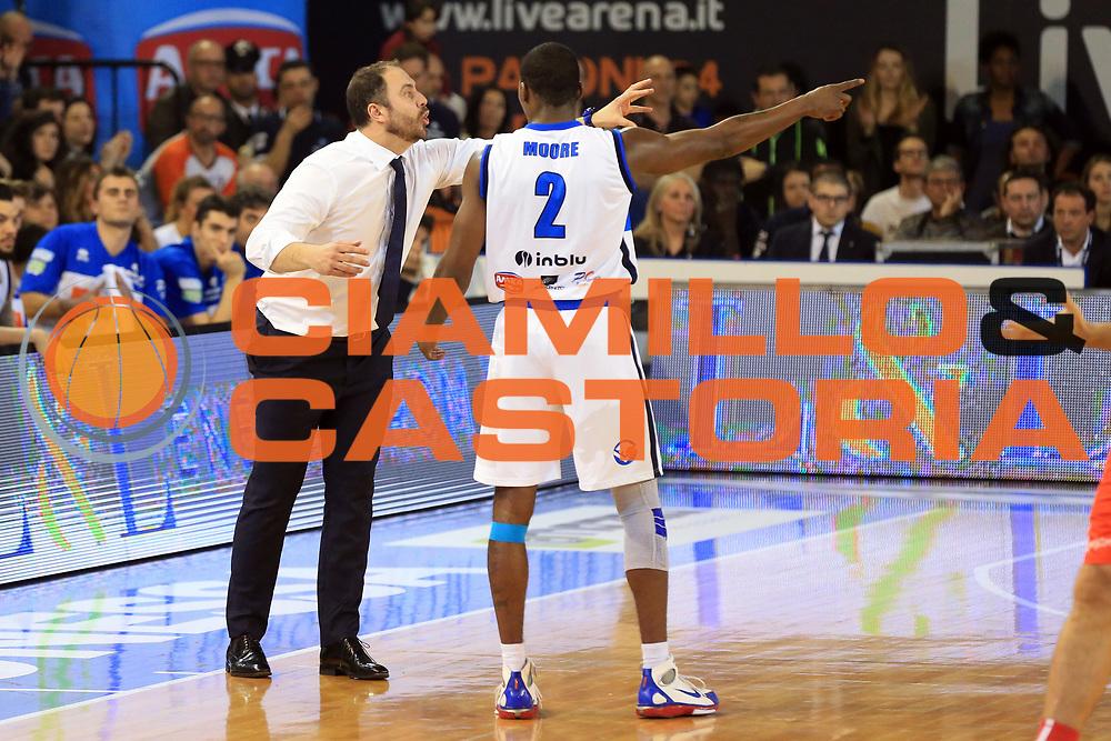 Diana Andrea, Moore Lee<br /> Germani Basket Brescia vs Openjobmetis Varese<br /> Lega Basket Serie A 2016/2017<br /> Citt&agrave; 19/03/2017<br /> Foto Ciamillo-Castoria/A.Gilardi