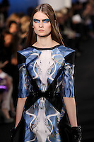 Lara Mullen walks down runway for F2012 Prabal Gurung's collection in Mercedes Benz fashion week in New York on Feb 10, 2012 NYC