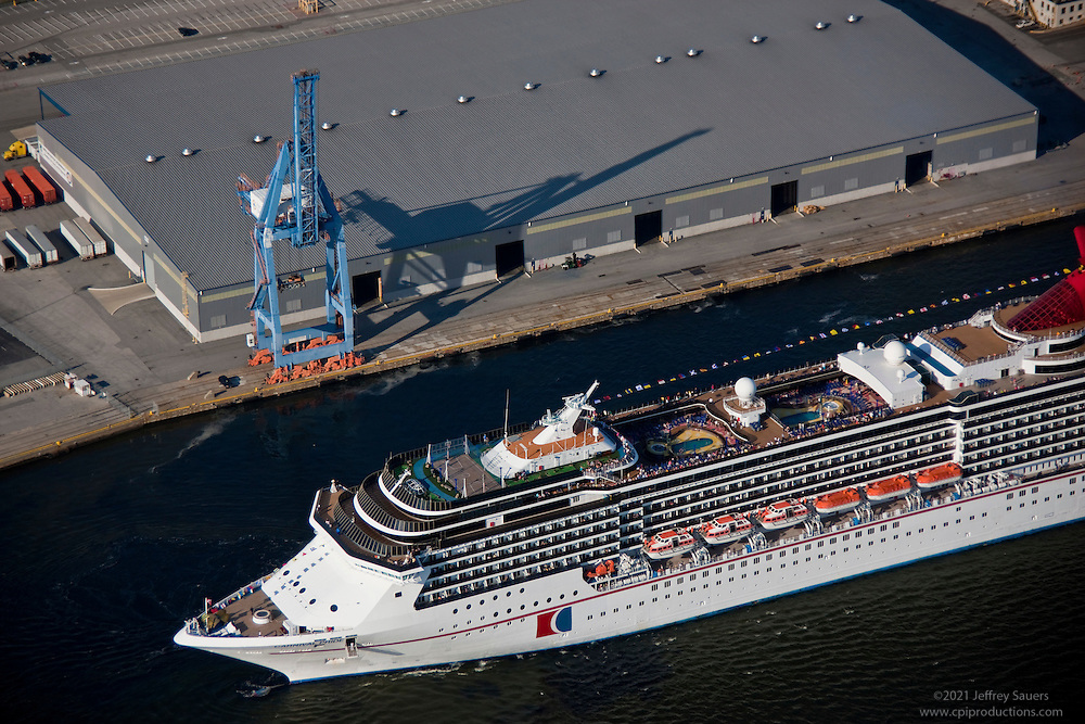 Aerial Of Carnival Pride At Maryland Cruise Terminal Rjpg - Cruise ships that leave from baltimore md