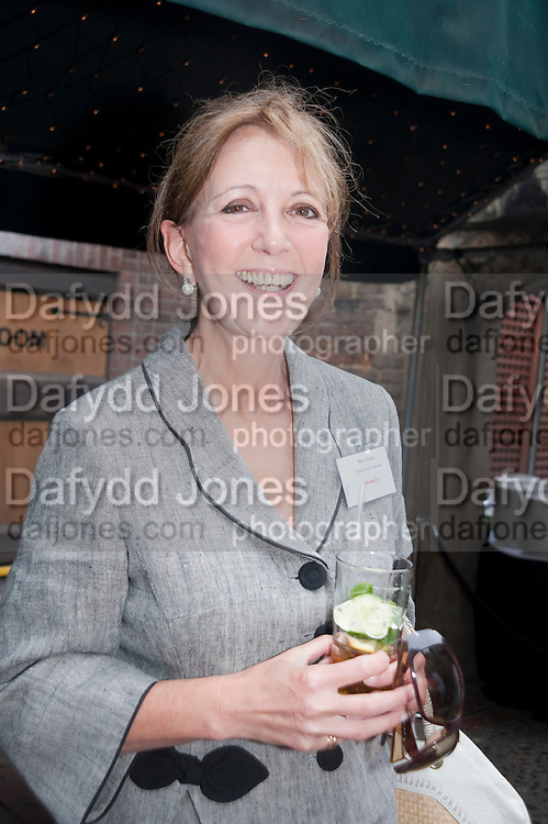 BABA HOBART; PARKER HOBART, Archant Summer party. Kensington Roof Gardens. London. 7 July 2010. -DO NOT ARCHIVE-© Copyright Photograph by Dafydd Jones. 248 Clapham Rd. London SW9 0PZ. Tel 0207 820 0771. www.dafjones.com.
