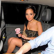 01.MAY.2012. LONDON<br /> <br /> TULISA CONTOSTAVLOS AND BOYFRIEND LEAVE MAHIKI, MAYFAIR, LONDON, UK. TULISA WAS EARLIER NAMED FHM MAGAZINES SEXIEST WOMAN IN THE WORLD<br /> <br /> BYLINE: EDBIMAGEARCHIVE.COM<br /> <br /> *THIS IMAGE IS STRICTLY FOR UK NEWSPAPERS AND MAGAZINES ONLY*<br /> *FOR WORLD WIDE SALES AND WEB USE PLEASE CONTACT EDBIMAGEARCHIVE - 0208 954 5968*