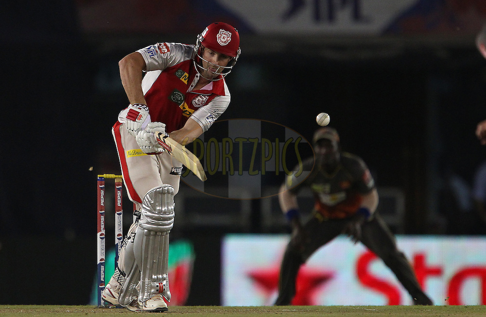 Shaun Marsh mis times a delivery from Dale Steyn during match 59 of of the Pepsi Indian Premier League between The Kings XI Punjab and the Sunrisers Hyderabad held at the PCA Stadium, Mohal, India  on the 11th May 2013..Photo by Ron Gaunt-IPL-SPORTZPICS ..Use of this image is subject to the terms and conditions as outlined by the BCCI. These terms can be found by following this link:..http://www.sportzpics.co.za/image/I0000SoRagM2cIEc