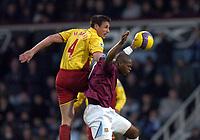 Photo: Olly Greenwood.<br />West Ham United v Watford. The Barclays Premiership. 10/02/2007. Watford's Malkay Mackay and West Ham's Marlon Harewood