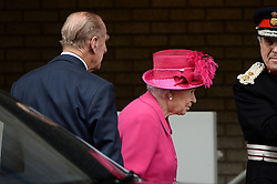 The Queen and the Duke of Edinburgh visit the National Theatre for a guided tour on the anniversary of it opening 50 years ago at the National Theatre, London, United Kingdom. Tuesday, 22nd October 2013. Picture by Ben Stevens / i-Images