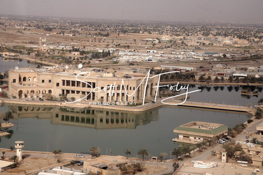 In Feb 2008, as an Active Duty U.S. Air Force Security Forces officer, I deployed to the Multinational Corps-Iraq (MNC-I), Camp Victory, Iraq for a period of 6 months.  These images are a collection of my friends, the job and of Iraq.  Thanks for looking Aerial shots of the Al Faw Palace, Camp Victory, Iraq, 18 Mar 08.