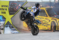 LARISA, May 19, 2018  A motorcyclist competes during the 12th motor festival in Larisa, Greece, May 18, 2018. (Credit Image: © Apostolos Domalis/Xinhua via ZUMA Wire)