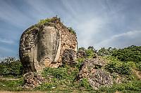 Lion's foot in Mingun Village