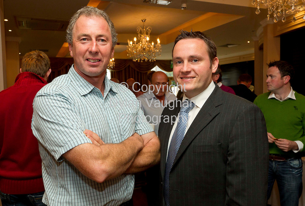 5/9/2011.Henry Walsh Ornamore Co. Galway and Donal Whelton AIB pictured at the Dairy Ireland- Grasping the Opportunity  conference at the Newpark Hotel in Kilkenny..Picture Dylan Vaughan.