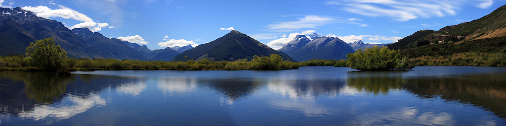 Glenorchy Wetland reflection, New Zealand (12x48 inch print)