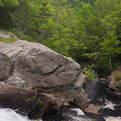 Chapman Falls in Devil's Hopyard State Park, East Haddam, Connecticut.  Eight Mile River.
