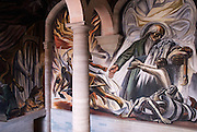San Miguel de Allende, Mexico, 2006-A fresco inside the escuela de bellas artes in san miguel de allende.
