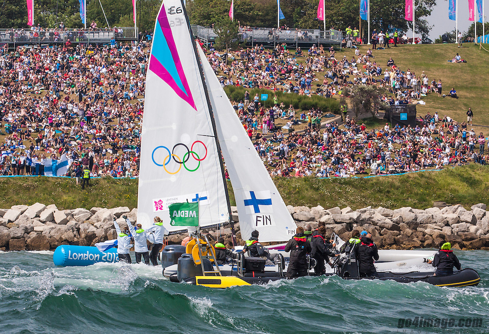 Kanerva Silja, Wulff Mikaela, Lehtinen Silja, (FIN, Match Race)<br /> <br /> 2012 Olympic Games <br /> London / Weymouth