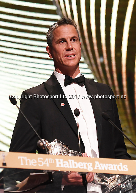 Rob Waddell. The 54th Halberg Awards in support of the Halberg Disability Sport Foundation. Vector Arena, Auckland, New Zealand. Thursday 9 February 2017. © Copyright photo: Andrew Cornaga / www.photosport.nz