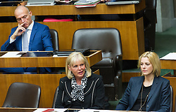 19.05.2016, Parlament, Wien, AUT, Parlament, Nationalratssitzung, Sitzung des Nationalrates mit erster Rede des neuen Bundeskanzlers, im Bild v.l.n.r. Nationalratsabgeordneter SPÖ Gerald Klug (vorher Infrastrukturminister), Nationalratsabgeordnete SPÖ Andrea Gessl-Ranftl und Nationalratsabgeordnete SPÖ Sonja Steßl (vorher Staatssekretärin) // f.l.t.r. Member of Parliament SPOe Gerald Klug, Member of Parliament SPOe Andrea Gessl Ranftl and Member of Parliament SPOe Sonja Stessl during meeting of the National Council of austria with a speech of the new chancellor at austrian parliament in Vienna, Austria on 2016/05/19, EXPA Pictures © 2016, PhotoCredit: EXPA/ Michael Gruber