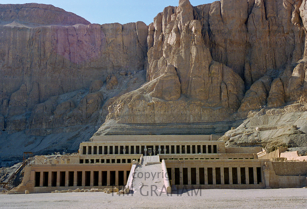 Tomb and temple of Hatshepsut Ma'at-ka-Ra Hatshepsut, Female Pharaoh of Egypt in the Valley of the Kings at Luxor, Egypt