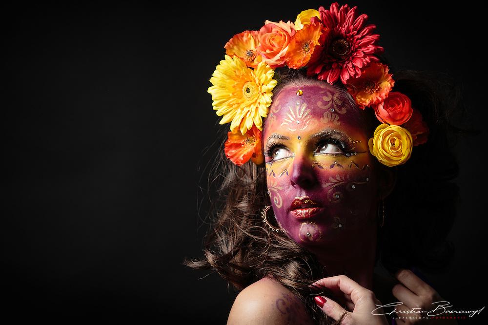 Mystic flower. Flowers lighten up the darkness of life. November 2014.
