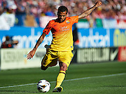 MADRID, SPAIN- MAY 12: Dani Alves of FC Barcelona in action during the Liga BBVA between Atletico de Madrid and FC Barcelona at the Vicente Calderon stadium on May 12, 2013 in Madrid, Spain. (Photo by Aitor Alcalde Colomer).