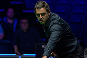 Action from the final frame of the Quarter Final between Ronnie O'Sullivan vs Mark Selby during the 19.com Home Nations Scottish Open at the Emirates Arena, Glasgow, Scotland on 13 December 2019.