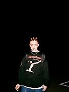 Marilyn Manson fan queueing outside the London Arena, London, 2001.