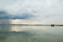 Storm clouds over Lake Isabella in New Mexico