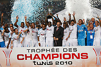 FOOTBALL - TROPHEE DE CHAMPIONS 2010 - OLYMPIQUE MARSEILLE v PARIS SAINT GERMAIN - 28/07/2010 - PHOTO PHILIPPE LAURENSON / DPPI - OM TROPHY