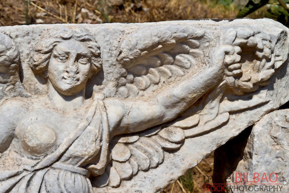 Goddess Nike statue. Ruins of Ephesus.<br /> Izmir province. Anatolia, Turkey