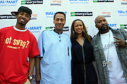 "Terrence J, Congressmen Mel Watt, Valiesha Butterfieild and Bun B at the Hip-Hop Summit's ""Get Your Money Right"" Financial Empowerment International Tour draws hip-hop stars and financial experts to teach young people about financial literacy held at The Johnson C. Smith University's Brayboy Gymnasium on April 26, 2008..For the past three years, hip-hop stars have come out around the country to give back to their communities. Sharing personal stories about the mistakes they've made with their own finances along the way, and emphasizing the difference between the bling fantasy of videos and the realities of life, has helped young people learn the importance of financial responsibility while they're still young. With the recent housing market crash in the United States affecting the economy, jobs, student loans and consumer confidence, young people are eager to receive sound financial advice on how to best manage their money and navigate through this volatile economic environment.."