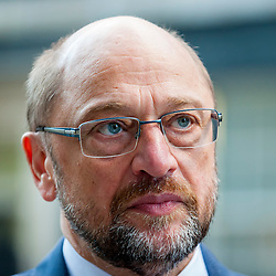 © Licensed to London News Pictures. 22/09/2016. London, UK. Martin Schulz, President of the European Parliament, outside number 10 Downing Street, following talks with Theresa May, Prime Minister.  Photo credit : Stephen Chung/LNP