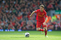 LIVERPOOL, ENGLAND - Saturday, October 20, 2012: Liverpool's Joe Allen in action against Reading during the Premiership match at Anfield. (Pic by David Rawcliffe/Propaganda)