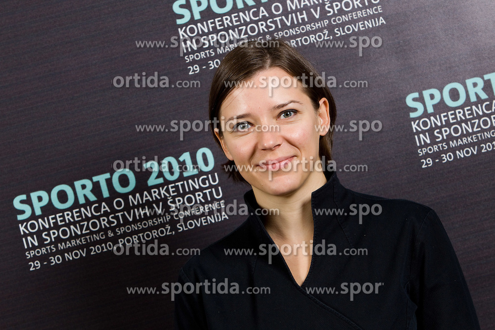 Brigita Femec of Kliping during Day two of Sporto  2010 - Sports marketing and sponsorship conference, on November 30, 2010 in Hotel Slovenija, Portoroz/Portorose, Slovenia. (Photo By Vid Ponikvar / Sportida.com)
