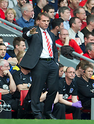 05.05.2013, Anfield, Liverpool, ENG, Premier League, FC Liverpool vs FC Everton, 36. Runde, im Bild Liverpool's manager Brendan Rodgers during the English Premier League 36th round match between Liverpool FC and Everton FC at Anfield, Liverpool, Great Britain on 2013/05/05. EXPA Pictures © 2013, PhotoCredit: EXPA/ Propagandaphoto/ David Rawcliffe..***** ATTENTION - OUT OF ENG, GBR, UK *****
