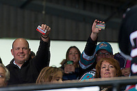 KELOWNA, CANADA - DECEMBER 2: Fans present their Costco cards during a time out in second period on December 2, 2015 at Prospera Place in Kelowna, British Columbia, Canada.  (Photo by Marissa Baecker/Shoot the Breeze)  *** Local Caption *** Fans; POP