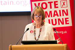 © Licensed to London News Pictures. 21/06/2016. Birmingham, UK. HARRIET HARMAN speaking in Birmingham to set out the case for remaining in Europe. Photo credit: Dave Warren/LNP